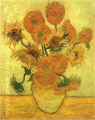 Vincent van Gogh, Still Life: Vase with Fourteen Sunflowers, 1889, (JH 1666) oil on canvas, 39.6 x 30.1 in. / 100.5 x 76.5 cm, US$610