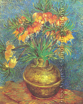 Vincent van Gogh, Imperial Crown Fritillaria in a Copper Vase (JH 1247) | Crown Imperials in a Copper Vase | Fritillaries in a Copper Vase, 1887, oil on canvas, 51 x 42 in. / 129.5 x 103.6 cm, US$580