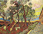 Vincent van Gogh, The Garden of Saint Pual Hospital | Amsterdam, 1889, oil on canvas, 28.8 x 36.5 in. / 73.1 x 92.6 cm, US$260