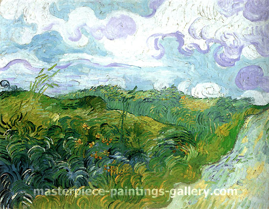 Vincent van Gogh, Green Wheat Fields, 1890, oil on canvas, 28.7 x 36.6 in. / 73 x 93 cm, US$560