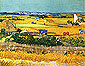 The Plain of La Crau near Arles with Montmajour in the Background, 1888, oil on canvas, 29 x 36 in / 73 x 93 cm, US$375