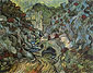 Vincent van Gogh, Les Peiroulets Ravine, 1889, oil on canvas, 28.3 x 36.2 in. / 72 x 92 cm, US$275