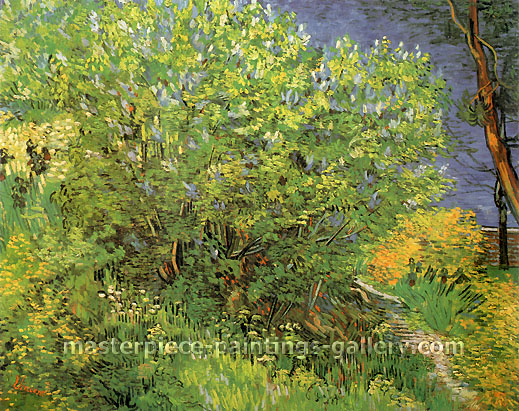 Vincent van Gogh, Lilacs, 1889, oil on canvas, 28.7 x 36.2 in. / 73 x 92 cm, US$560