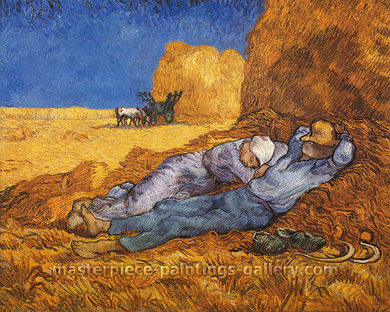 Vincent van Gogh, Noon Rest, 1890, oil on canvas, 28.9 x 36 in / 73.3 x 91.4 cm, US$560