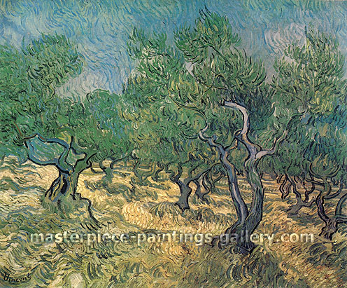 Vincent van Gogh, Olive Grove, 1889, oil on canvas, 28.3 x 36.2 in. / 72 x 92 cm, US$550