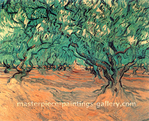 Vincent van Gogh, Olive Trees, 1889, oil on canvas, 21.1 x 25.2 in. / 53.5 x 64 cm, US$360