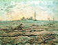 Vincent van Gogh, The Plough and the Harrow (after Millet), 1890, oil on canvas,  28.3 x 36.2 in. / 72 x 92 cm, US$340