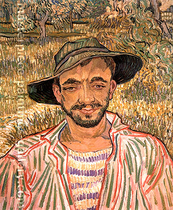 Vincent van Gogh, Portrait of a Young Peasant, 1889, oil on canvas, 24 x 19.7 in. / 61 x 50 cm, US$370