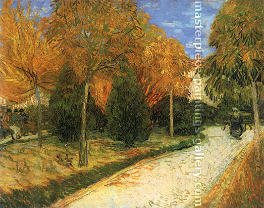 Vincent van Gogh, The Public Park at Arles, 1888, oil on canvas, 28.3 x 36.2 in. / 72 x 92 cm,US$560