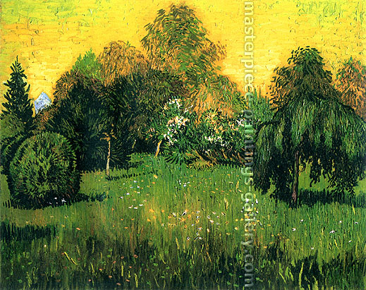 Vincent van Gogh, Public Park with Weeping Willow: The Poet's Garden I, 1888, oil on canvas, 28.7 x 36.2 in. / 73 x 92 cm, US$540
