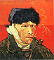 Vincent van Gogh, Self-portrait with Bandaged Ear and Pipe, 1889, (JH 1658) oil on canvas, 20 x 17.7 in. / 51 x 45 cm, US$210