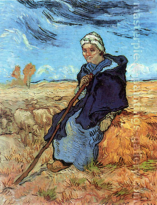 Vincent van Gogh, The Shepherdess, 1889, oil on canvas, 20.7 x 16 in. / 52.7 x 40.7 cm, US$330