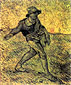 Vincent van Gogh, small Sower, 1889, oil on canavs, 25.2 x 21.7 in. /  64 x 55 cm, US$280
