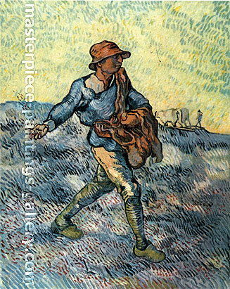 Vincent van Gogh, The Sower (Large), 1889, oil on canvas, 31.8 x 26 in. /  80.8 x 66 cm, US$480