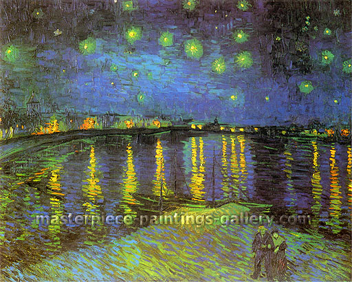 Vincent van Gogh, Starry Night Over the Rhone, 1888, (JH 1592) oil on canvas, 28.5 x 36.2 in. / 72.5 x 92 cm, US$575