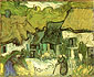 Vincent van Gogh, Thatched Cottages in Jorgus, 1890, oil on canvas, 13 x 16 in. / 33 x 40.5 cm, US$250