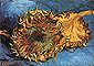 Vincent van Gogh, Two Cut Sunflowers - Blue, 1887, oil on canvas, 17 x 24 in. / 43.2 x 61 cm, US$280