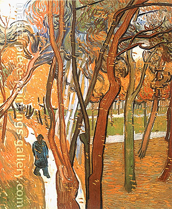 Vincent van Gogh, The Walk | Falling Leaves, 1889, oil on canvas, 28.9 x 23.8 in. / 73.5 x 60.5 cm, US$420