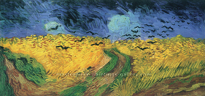 Vincent van Gogh, Wheat Field with Crows | Auvers-sur-Oise, | Wheat Field Under Threatening Skies | Wheat Field with Ravens, July 1890, (JH 2117), oil on canvas, 19.9 x 40.6 in. /50.5 x 103 cm, US$465