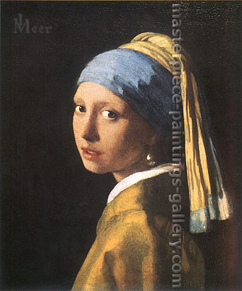 Jan Vermeer, Girl with a Pearl Earring | Girl with Turban, 1665, oil on canvas, 17.7 x 15.7 in. / 45 x 40 cm, US$340