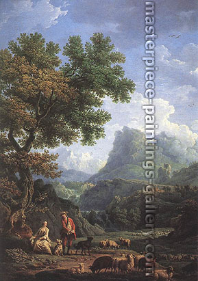 Claude-Joseph Vernet, Shepherd in the Alps, 1754, oil on canvas, 30 x 21.1 in. / 76.2 x 53.6 cm, US$400